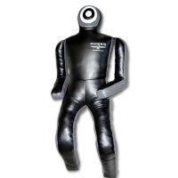 Birkozó bábu, műbőr, fekete-szürke, 170cm, 40kg, flexi végtagokkal