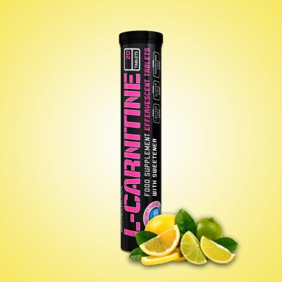 Biotech, L-Carnitine Effervescent Tablets, 20 Tablets, Lemon-Lime
