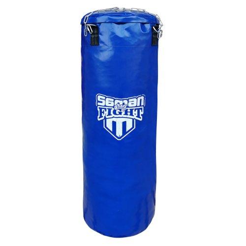 Punching bag, Saman, Spirit of Fight, blue, 120x40, PU, with chain