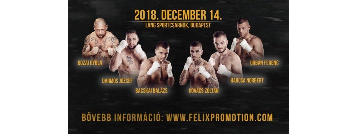 Budapesti Felix Promotion boxgála december 14-én