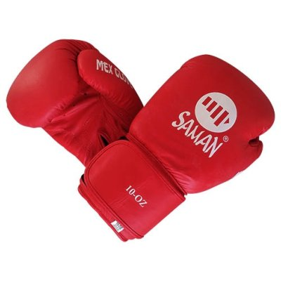 Boxing gloves, Saman, Mex Glove, leather, red