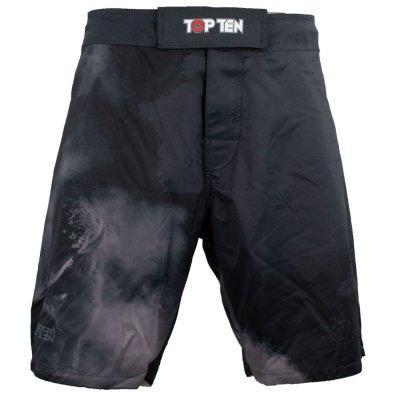 MMA Shorts, Top Ten, Scratched, black