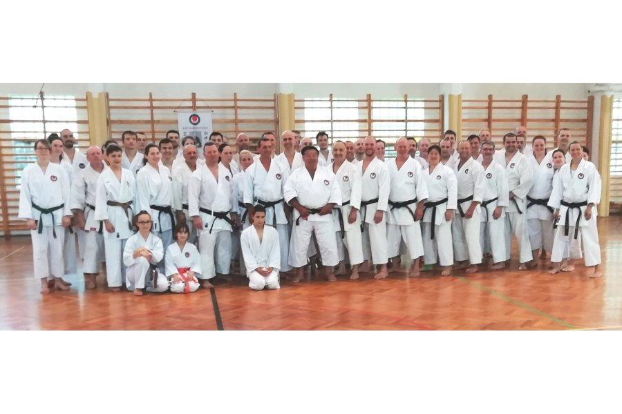 Karate edzőtábor Gyulán-Sáfár Sensei vezetésével