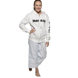 Kapucnis pulóver, Hayashi, Karate, cipzáros, fehér