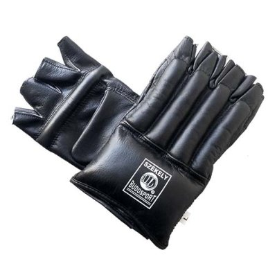 Bag Gloves, Székely, Cut Fingers, leather, black