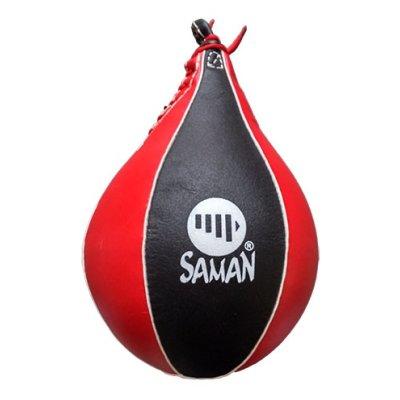 Reflexlabda, Saman, bőr, piros-fekete
