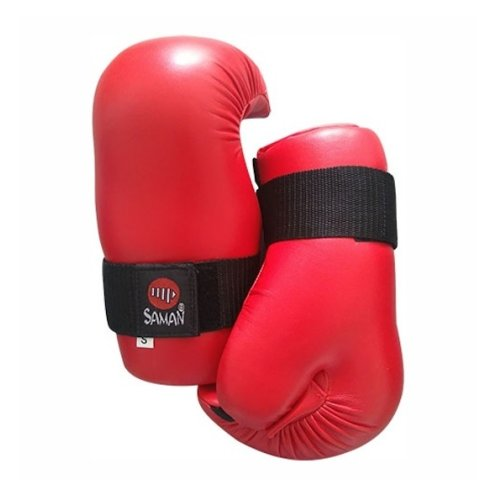 Semi-contact gloves, Saman, red, artificial leather
