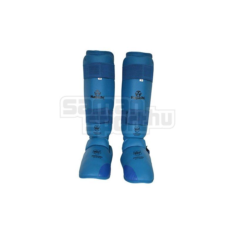 Karate Kickprotector and Shin Guard Set, Hayashi, WKF, blue