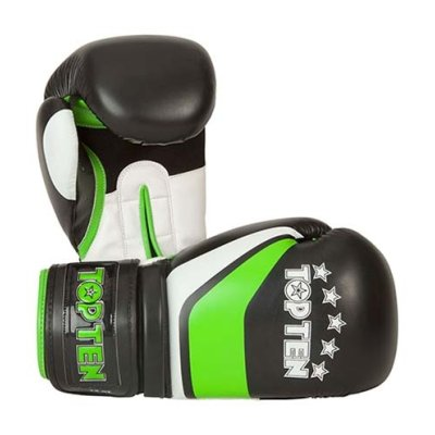 Boxkesztyű, Top Ten, Stripe, fekete/zöld/fehér