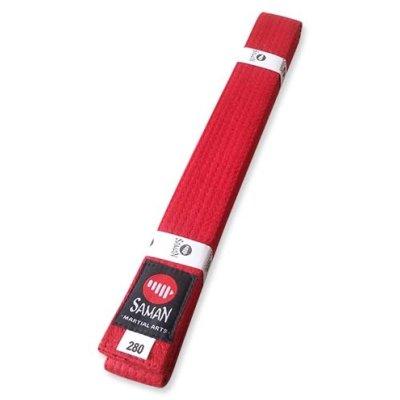 Belt, Saman, cotton, red