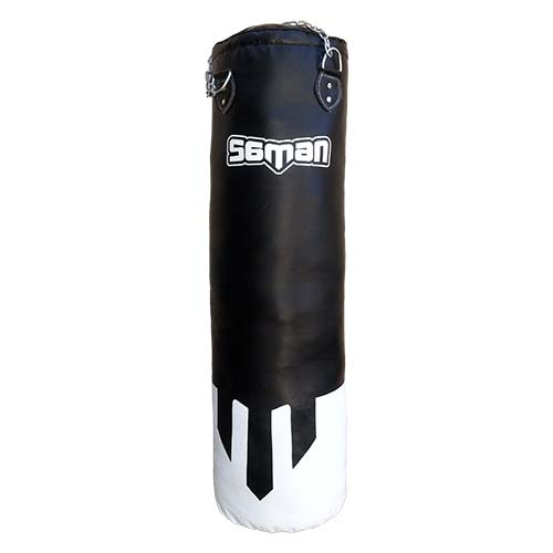 Punching bag, Saman, PU, black, filled, Classic