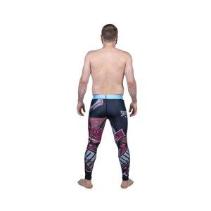 "Training tights, Top Ten, Leggings ""Samurai"", black/red"