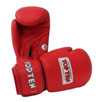Boxing gloves, Top Ten, AIBA, red