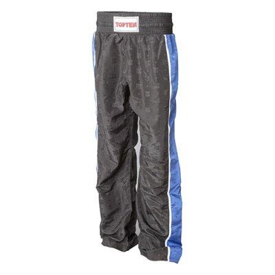 Kick-box nadrág, Top Ten, Stripe, fekete/kék