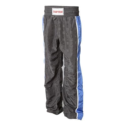 Kick-box nadrág, Top Ten, Stripe, fekete/kék, S méret