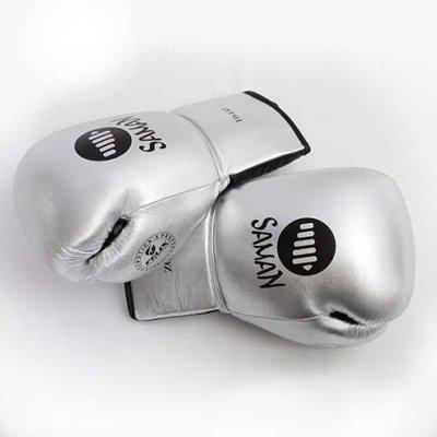 Boxkesztyű, Felix Promotion, fűzős, ezüst