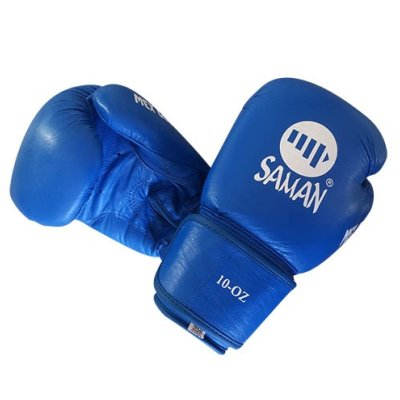 Boxing gloves, Saman, Mex Glove, leather, blue