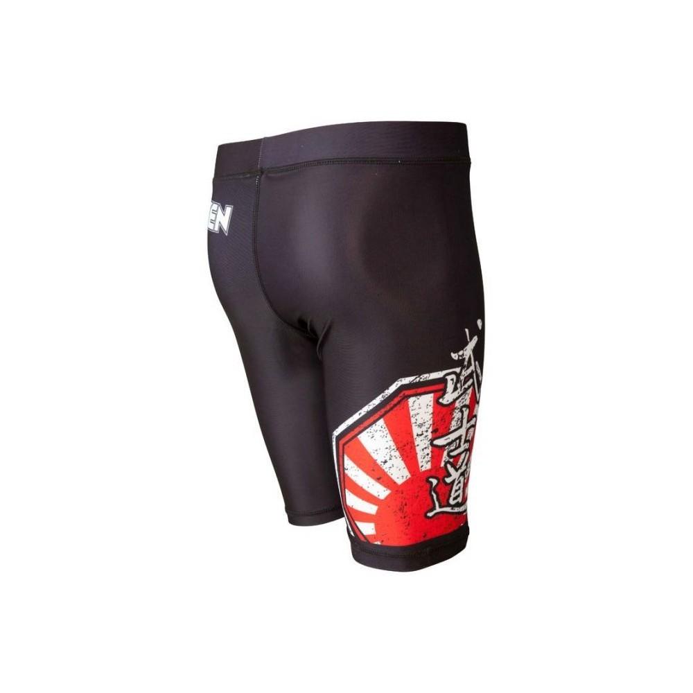 Kompressziós nadrág, Top Ten, MMA Samurai, feketepiros
