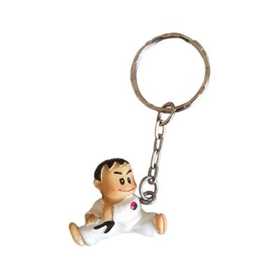 Key ring, Karate, Kicking boy, 3D