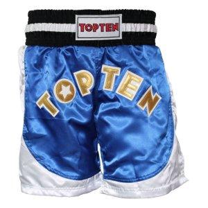 Kick-box nadrág, Top Ten, Kick Light, WAKO, Kék-fehér szín, XL méret