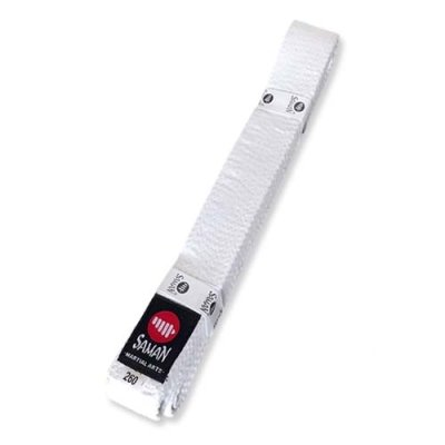 Belt, Saman, cotton, white