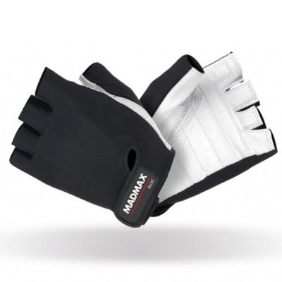 Fitness gloves, Mad Max, Basic, black-white