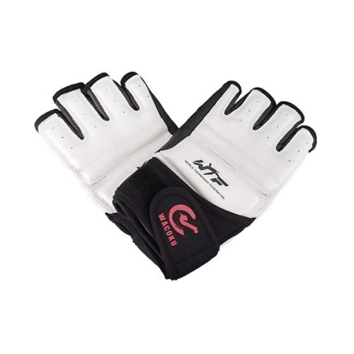 Taekwondo gloves, WTF, Wacoku, white/black