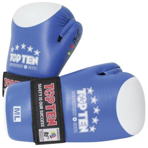 Semi-contact kesztyű, Top Ten, ITF Superfight 3000, Kék szín, M-L méret (BJJ)