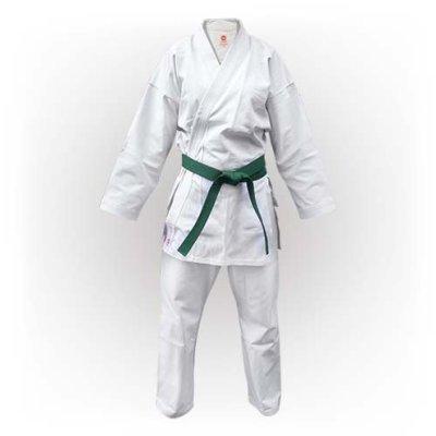 Karate Uniform, Saman, Basic Kata with belt, white, cotton