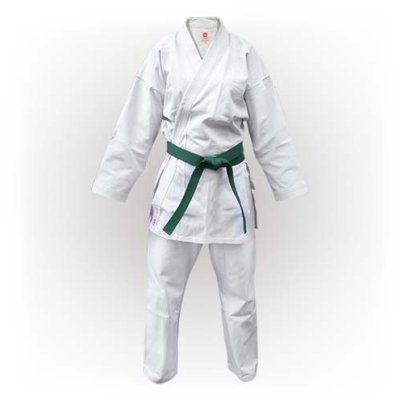 Karate Uniform, Saman, Basic Kata with belt, white, cotton