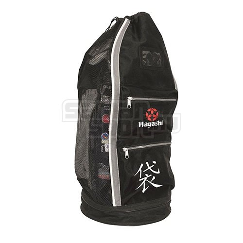 Mesh Bag, Hayashi, Deluxe, black, white/grey