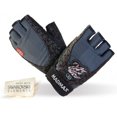 Fitness Gloves, Madmax, Oksana's with Swarovski Elements, for woman