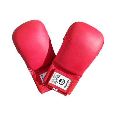 Karate mitts, Saman Eco, artificial leather, red
