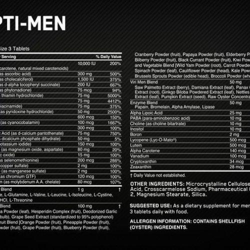 Optimum Nutrition Opti-Men, Multivitamin, 90 Capsules