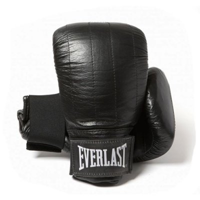 Everlast Boston, leather, bag boxing gloves, black