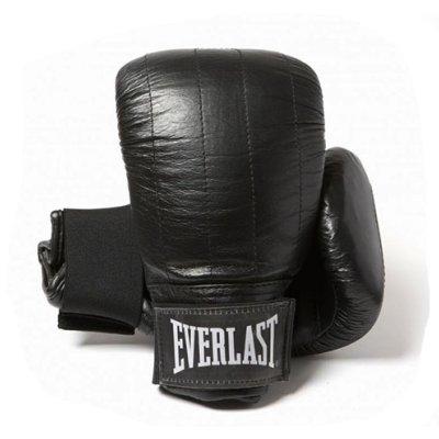 Everlast Boston, bőr, zsákolókesztyű, bőr, fekete