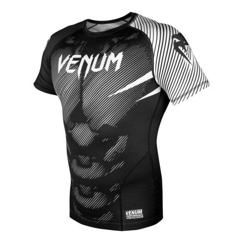 Rashgurard, Venum, NoGi 2.0, short sleeves, black-white