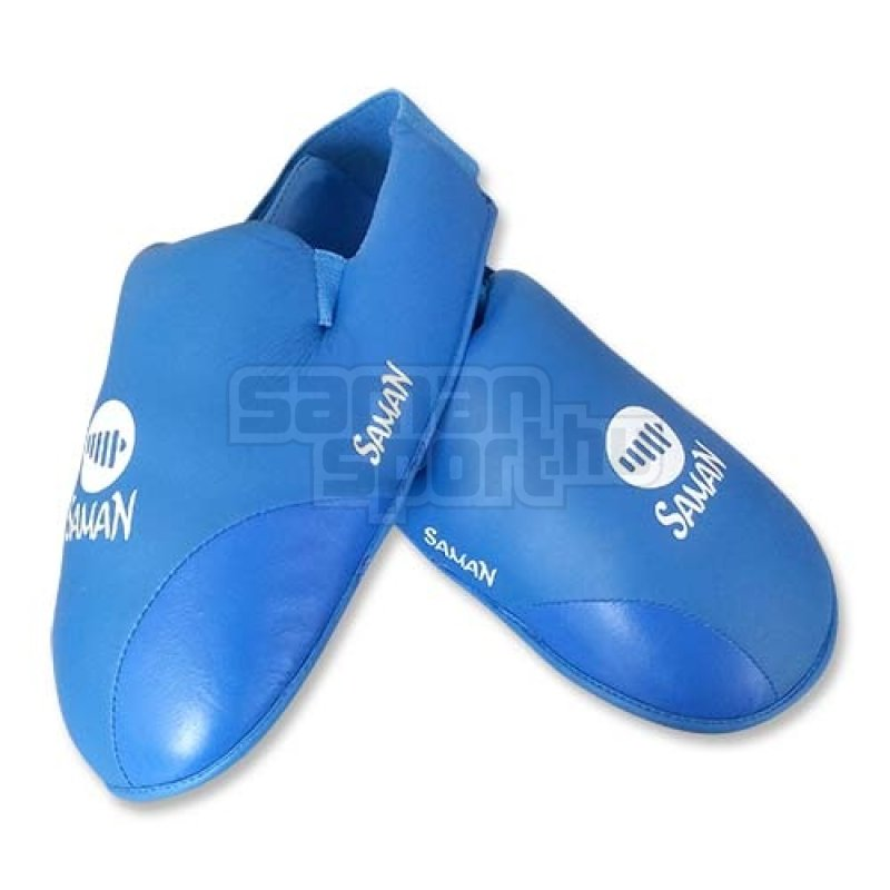 Lábfejvédő, Saman, karate, PU, kék
