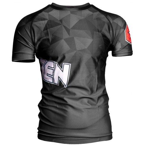 MMA Rashguard, Top Ten, Prism, Fekete szín, XXL méret