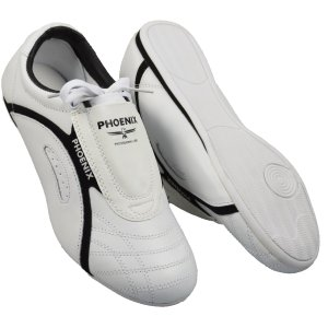 Taekwondo shoes, Phoenix, Professional Line, leather, white-black