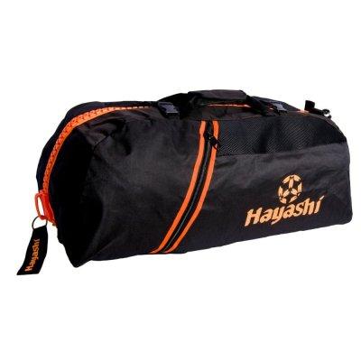 Sporttáska, Hayashi, kombi, fekete / narancs, nagy 55 cm