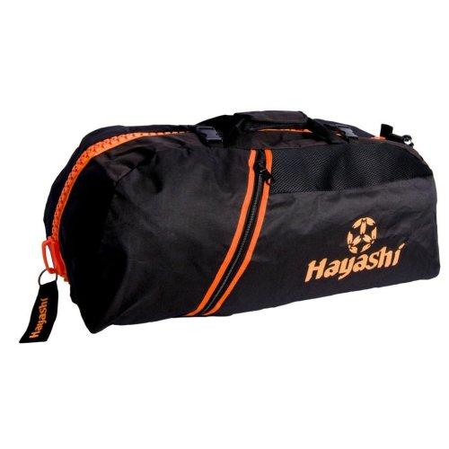 Sportbag/backpack combo, Hayashi, black / orange, small