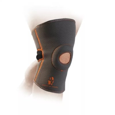 Knee Support, Madmax, with patella stabilizer, grey