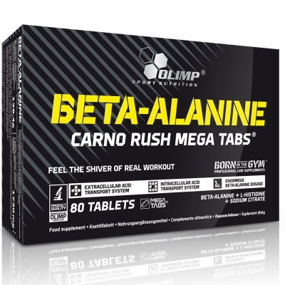 Olimp, Beta-Alanine Carno Rush Tabs® , karnozin, 80 tabletta