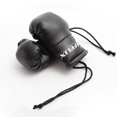 Felix Poromotion, mini boxing gloves, hang-up, black