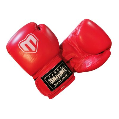 Boxkesztyű, Saman, Competition, bőr, piros