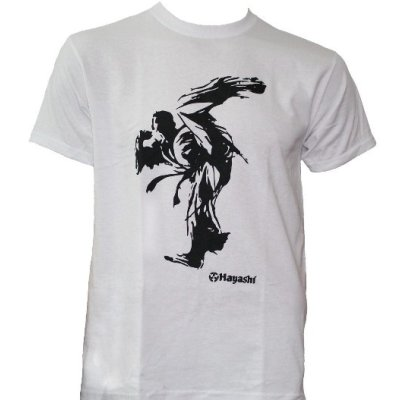 T-Shirt, Hayashi, Kick, white