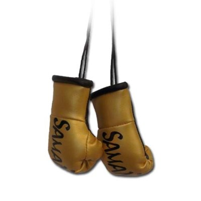 Mini Boxing Gloves, Saman, Hang-up, pair, golden