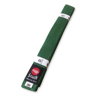Belt, Saman, cotton, green