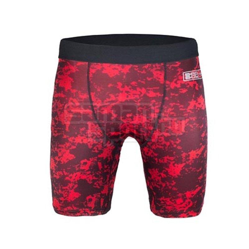 Kompressziós nadrág, X-Train, Bad Boy, rövid, piros/fekete